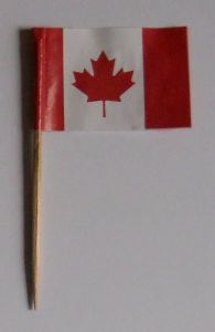 Canada Country Flag Cocktail Sticks (pack of 10)
